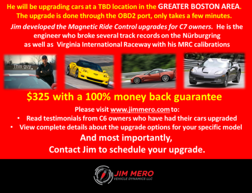 New Dates and Locations for Upgrades for 2009 to 2013 Corvettes equipped with Magnetic Ride Control